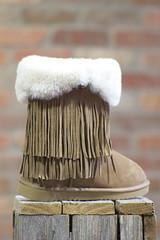 Fringed Sheepskin Boot
