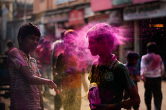 Moments of Holi (ayashok photography) Tags: india color march nikon madras culture dude krishna hindu chennai hinduism holi tamilnadu 2012 rang parryscorner nikkor50mm ayashok nikond300 sowcarpet
