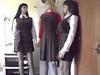 gymslip girls 033 (gymslip-connoiseur) Tags: uniforms schoolgirl gymslips flickrhivemind gymslipgirls browngymslips