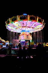 get in! (redglobe*) Tags: light colour night germany licht roundabout carousel lux karussell mnster carrusel lumen chairoplane sendmnster