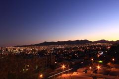 El Paso sunset! (RuizJ) Tags: city sunset sky sun clouds canon lights texas desert elpaso lighttrails 550d t2i kissx4