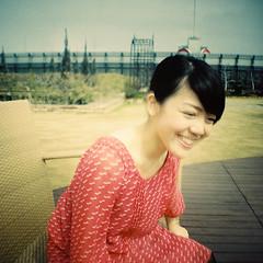 Mira (Sugar Crisp) Tags: portrait colour tokyo march lomography mini diana solaris 2012