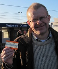 "Here I am pictured on the first day of our new Shettleston to Edinburgh Rail Service • <a style=""font-size:0.8em;"" href=""http://www.flickr.com/photos/78019326@N08/6981883049/"" target=""_blank"">View on Flickr</a>"