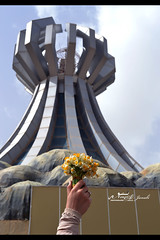 "Halabja Monument (Noor Al-janabi ""N.J"") Tags: flowers roses sky monument statue turkey memorial iraq innocent 1988 attack tragedy 24 years bouquet annual northern bombs citizens kurdistan chemical  halabja kurds march16 suli     sulimani helebce       kursds"