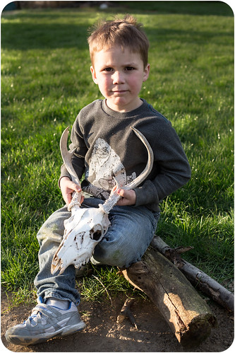 Liam and skull (1 of 1)