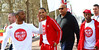 JB Gill, Marvin Humes and Orits� Williams of JLS Sainsbury's Sport Relief Mile 2012 - London