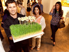 Jerome Fayolle of JFM catering at Jordan Winery's 4 on 4 Art Competition at Bakehouse Art Complex (4on4Art) Tags: art miami exhibition celebration event bac bakehouse artexhibit 40thanniversary 4on4 jordanwinery bakehouseartcomplexwine