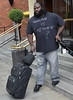 Mark Henry WWE wrestlers outside of their hotel Dublin, Ireland