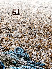 Stone Tin (Gareth Shapiro) Tags: uk tin stones rope dungeness bleached effrafc