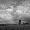 I remember it well, I was stood in your line (martinfowlie) Tags: road sky man black tarmac clouds dark coat hood outtake damienrice iremember