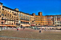 Siena Italy - Piazza del Campo (mbell1975) Tags: italy del europe italia eu campo siena piazza hdr
