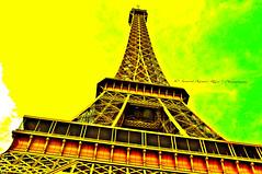 Resonant Eiffel Tower (SumantKumarRaja) Tags: uk travel red india paris france green heritage love yellow french evening nikon europe emotion unity eiffeltower culture like romance explore getty nikkor holi legacy adore crawley artphotography festivalofcolours sumant ironlady d5000 nikonflickraward