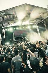 Seringai on stage (syukaery) Tags: music festival rock metal indonesia concert stage extreme crowd band jakarta senayan 1755mm hammersonic