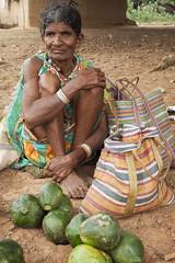 Market in Nangur (wietsej) Tags: woman india zeiss rural market sony tribal 1635 a900 bastar sal1635z nangur