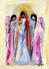 "DeGrazia's ""Angels and Madonna"" (DeGrazia Gallery in the Sun) Tags: arizona ted architecture painting artist gallery desert artgallery tucson madonna az foundation angels adobe oil nonprofit degrazia catalinas ettore nationalhistoricdistrict teddegrazia galleryinthesun"