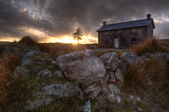 Nuns Cross Farm (Nickerzzzzz - Thanks for stopping by :)) Tags: sunset sky cloud colour tree rock canon landscape photograph granite dartmoor nunscross 5dmkiii 5d3 1635mmf4lisusm ©nickudy