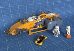 Ore prospector (Sunder_59) Tags: lego render space scifi spaceship spacecraft starship moc blender3d mecabricks