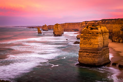 Twelve Apostles (David Maslen) Tags: ocean pink cliff seascape beach nature water sunrise canon landscape dawn coast rocks waves natural rocky australia victoria greatoceanroad twelveapostles apostles stacks dramaticskies rockstacks canon6d