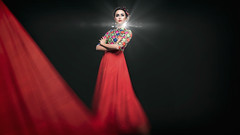 Antora (asifshifat) Tags: light red portrait people copyright motion beauty studio glamour flare asif as shifat