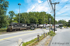 NS GE C40-8W # 8419 @ Portland, PA (Darryl Rule's Photography) Tags: train pennsylvania trains pa poconos local dl westbound eastbound alco alcos mixedfreight poconomain portlandturn