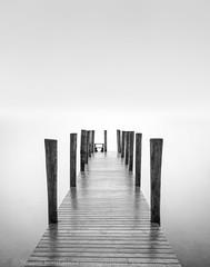 Boat free (Stuart Feurtado) Tags: wood longexposure blackandwhite mist water monochrome nikon moody outdoor jetty lakedistrict calm le derwentwater nationaltrust 10stop leefilters silverefex bigstopper
