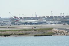 IMG_2570 (wmcgauran) Tags: boston airplane airport aircraft aviation boeing bos britishairways 747 eastboston kbos gbygd