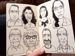 More favorite people (Don Moyer) Tags: moleskine notebook grid faces drawing moyer brushpen fce inbk donmoyer