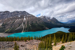 Peyto Lake After Snow (Jaykhuang) Tags: shadow lake canada colors clouds alberta peytolake icefieldsparkway canadianrockies snowmountains banffpark jayhuangphotography