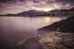 Menton Sunset (Julien Sanine) Tags: sunset sea cloud sun pose landscape soleil julien nikon rocks cotedazur lon menton d600 mditerranne sanine