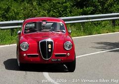 DSC_6570 - Lancia Aurelia B20 II Serie Competizione - 1953 - Mazzotto Paolo - Biondetti (pietroz) Tags: silver photo foto photos flag historic fotos pietro storico zoccola 21 storiche vernasca pietroz