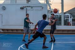 Passing-Jlombard (joshualombard) Tags: sunset water basketball port croatia cruiseship hr dubrovnik oldcity dubrovakoneretvanskaupanija dubrovakoneretvanskaupanij