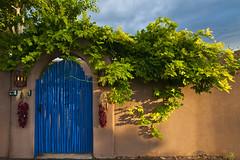 Santa Fe Door (Mitch Tillison Photography) Tags: chile door light santafe gate ristra adobewall bluemesaphotography mitchtillison