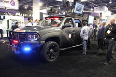 Tactical Response Unit - 2012 CES - Las Vegas, NV (tossmeanote) Tags: show las vegas blue red rescue wheel canon fire eos grey lights tv post nevada gray police mini center nv cameras electronics convention vehicle monitors blau ces guards flashing command consumer 2012 fully response unit equipped cea tactical lvcc 60d tossmeanote