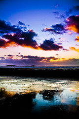 (sarwu25) Tags: blue light sunset sea sky orange seascape reflection beauty swansea wales clouds oregon canon landscape sand waves colours magic cymru dream lovers beaches lovely llangennith beachlovers sunsetlovers