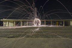 Steel wool - 7 (Sad Old Biker) Tags: uk light england wool canon geotagged fire photography photo wire europe long exposure kevin slow photos steel trail photograph poi sparks poulton kevinpoulton sadoldbiker