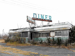 Abandoned Diner (Peachhead (1,000,000 views!)) Tags: abandoned overgrown newjersey ruin nj diner landmark icon forgotten american vacant americana roadside iconic dilapidated outofbusiness hunterdoncounty us22 readingtontownship johnnysdiner old22 usroute22 whitehousediner whitehousenj