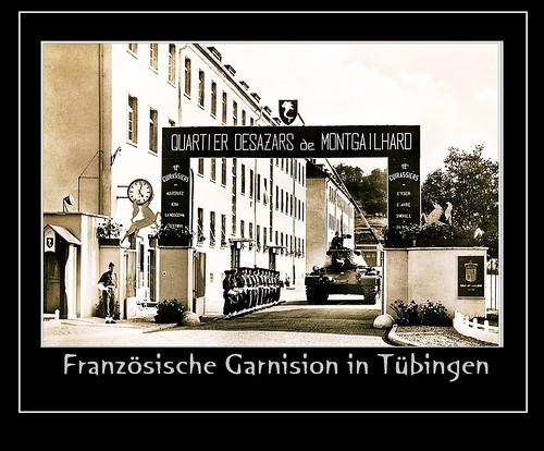 Tübingen am Neckar: Quartier Desazares de Montgailhard - Haupteingang zur ehemaligen Französischen Garnision in Tübingen