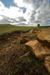 The Climb At f/3.5 (HDR) (left-hand) Tags: park windmill rock stone landscape rocks stones country hill lodge hills vista beacon hdr warwickshire burton dassett burtondassett canonefs1022mmf3545usm southam burtondassettcountrypark