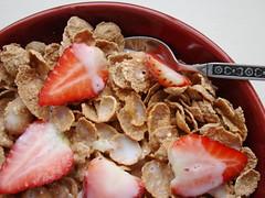 Breakfast Cereal and Strawberries (Vegan Feast Catering) Tags: breakfast cereal strawberries coconutmilk