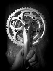 Sugino Crank (Andrew_Squirrel) Tags: logo with steel gear crown 24 granny 36 triple 48 stainless crank sugino 170mm