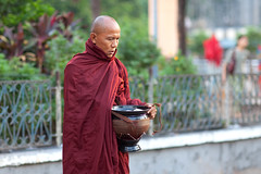 Peace With Himself (* Hazman Zie *) Tags: yangon 85mm monk buddhism myanmar f12 85l 5dmark11 canon85lf12