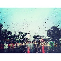 let it rain. open the floodgates of heaven. (.  .) Tags: red trafficlights green rain wednesday phonecam square drive squareformat normal floodgates iphoneography instagramapp uploaded:by=instagram iphone4s