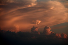 March 14 Severe Cell08 (BringStorms) Tags: sunset sky storm clouds march illinois thunderstorm severe thunderhead cumulonimbus anvilcloud