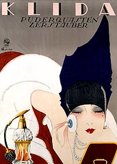 Klida vaporizer (1927) (Susanlenox) Tags: woman vintage germany advertising publicidad kunst makeup mode plakat reklame cartel klida kriegsbemalung fashiongraphicartcraft modegrafikkunstgewerbe engellhard juliusengellhard