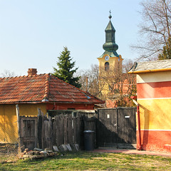 (Balzs Papdi) Tags: house tower church fence gate hungary torony templom kapu magyarorszg kuka hz csongrd kerts