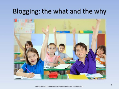 Blogging in the K-12 Classroom by kjarrett, on Flickr