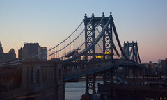 Manhattan Bridge at Magic Hour - Brooklyn, NYC (ChrisGoldNY) Tags: city nyc newyorkcity urban newyork architecture brooklyn day dusk dumbo bridges clear rivers eastriver gothamist magichour curbed bk chrisgoldny chrisgoldberg chrisgold chrisgoldphotos