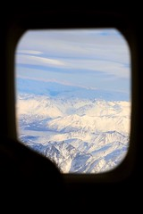 on the wing (~Lauren Parker) Tags: winter snow mountains window alaska project airplane wing days 365 365days