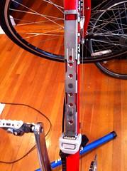 Battery mounting bracket (Prima Cyclorina) Tags: bike bicycle electric battery assist motor bionx