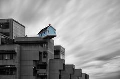 F a l l i n g S t a r (Lee Sie) Tags: california longexposure blue school light house building art clouds campus university sandiego engineering ucsd weldingglass sdf14 dohosu